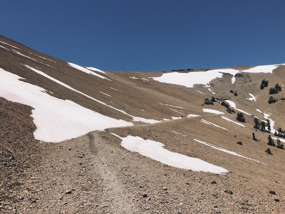 The nice gradual climb.