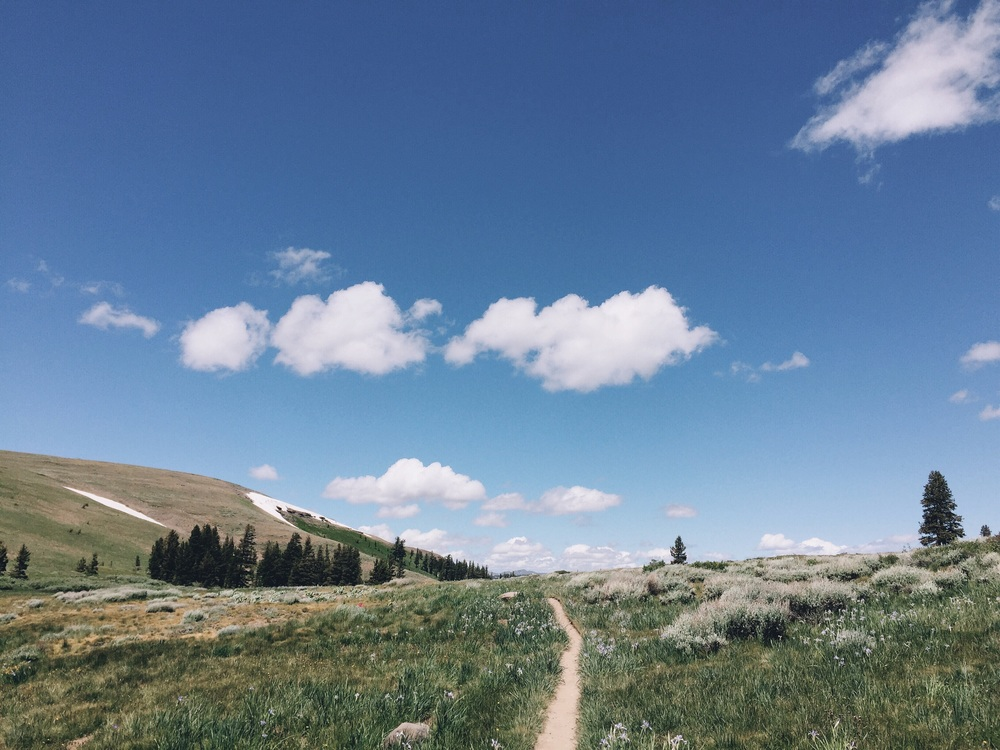 Approaching Tahoe rim trail.