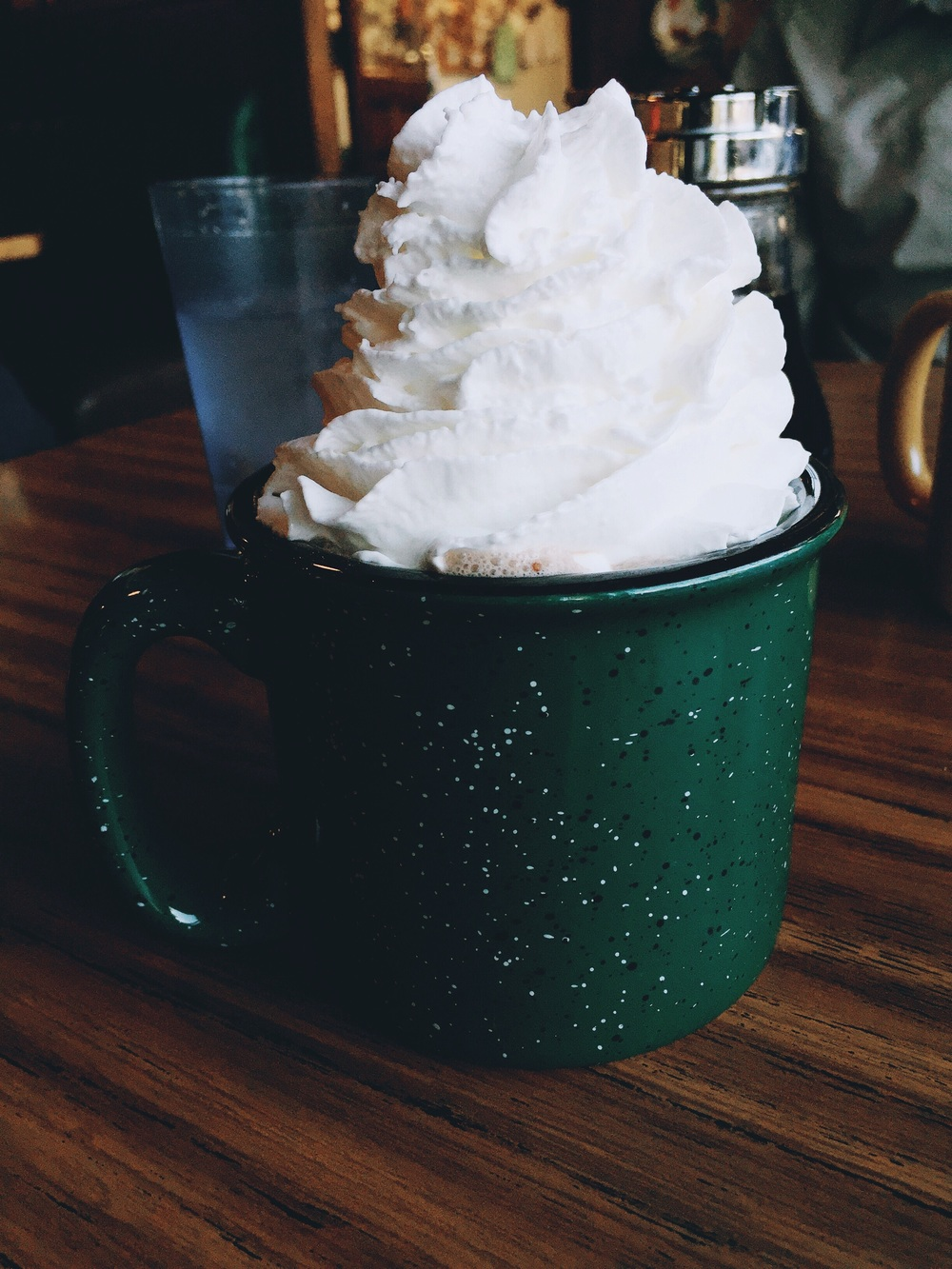 My hot chocolate w whipped cream!