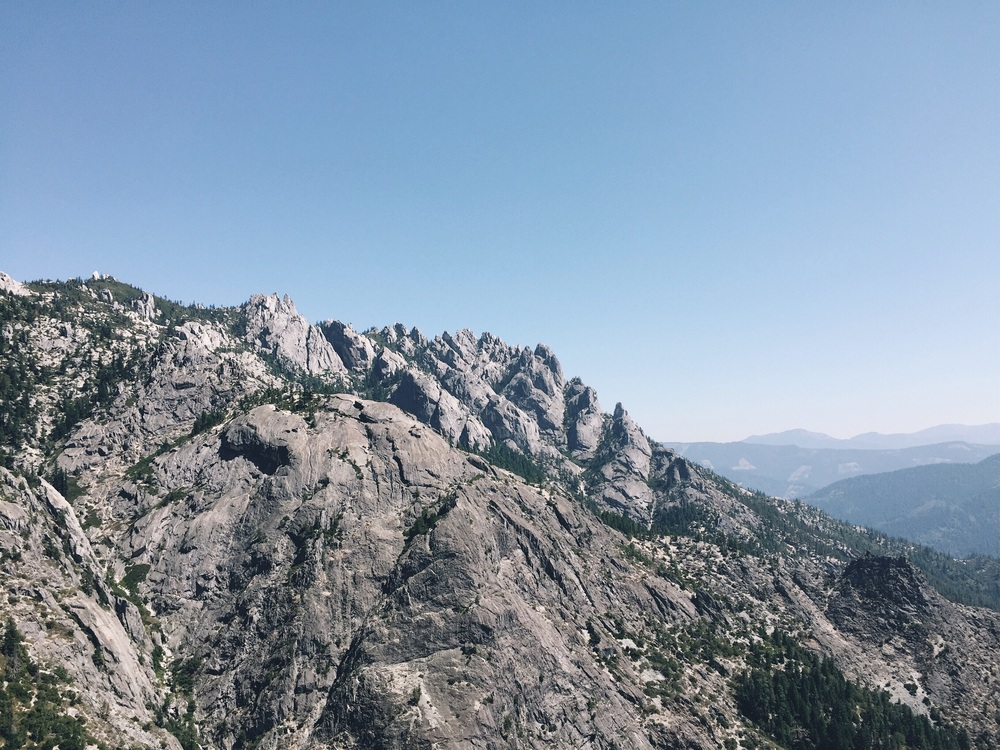 Rocks that are part of castle crags.