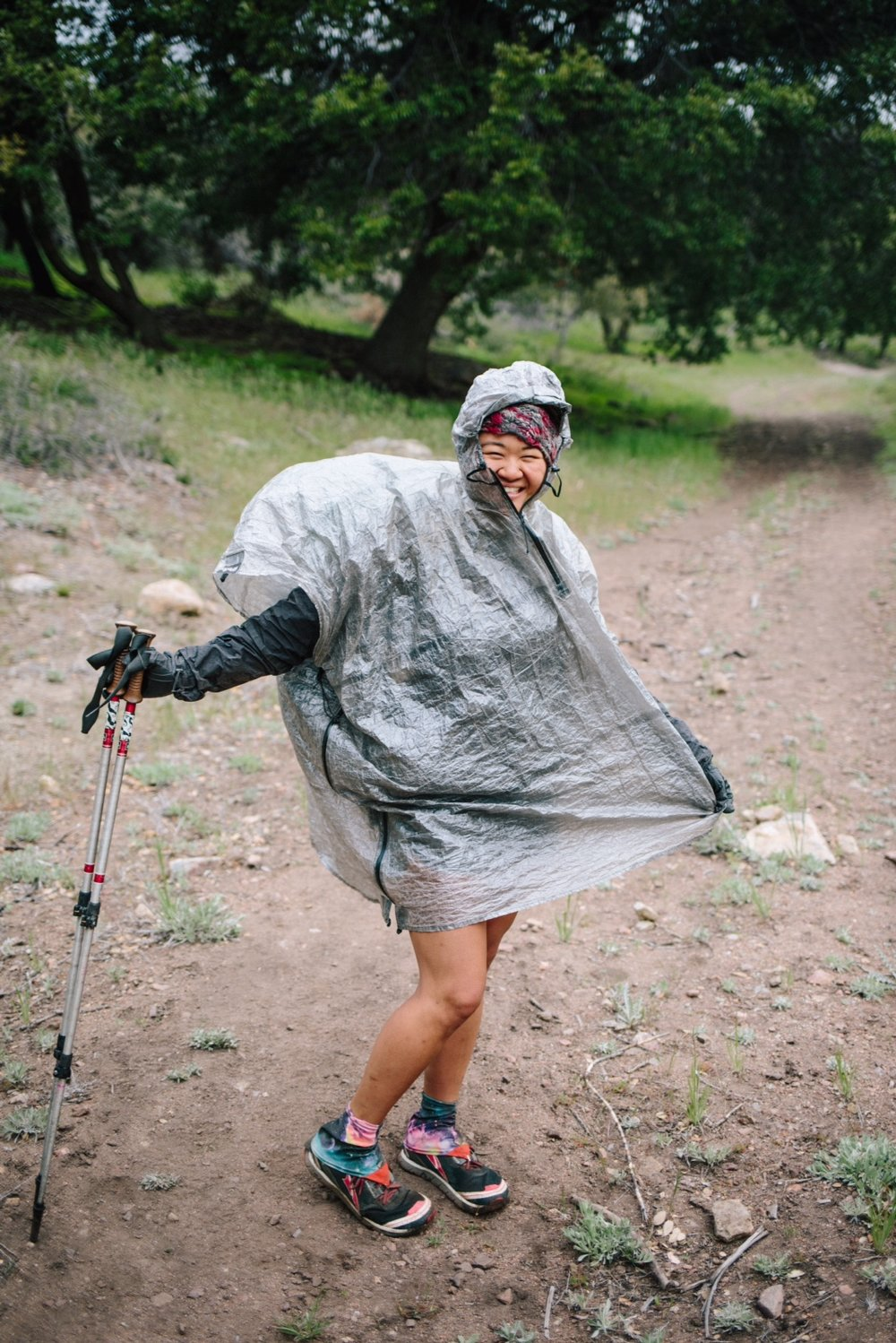 The only good pic of me in my badass poncho, photo by Nate and Meg.