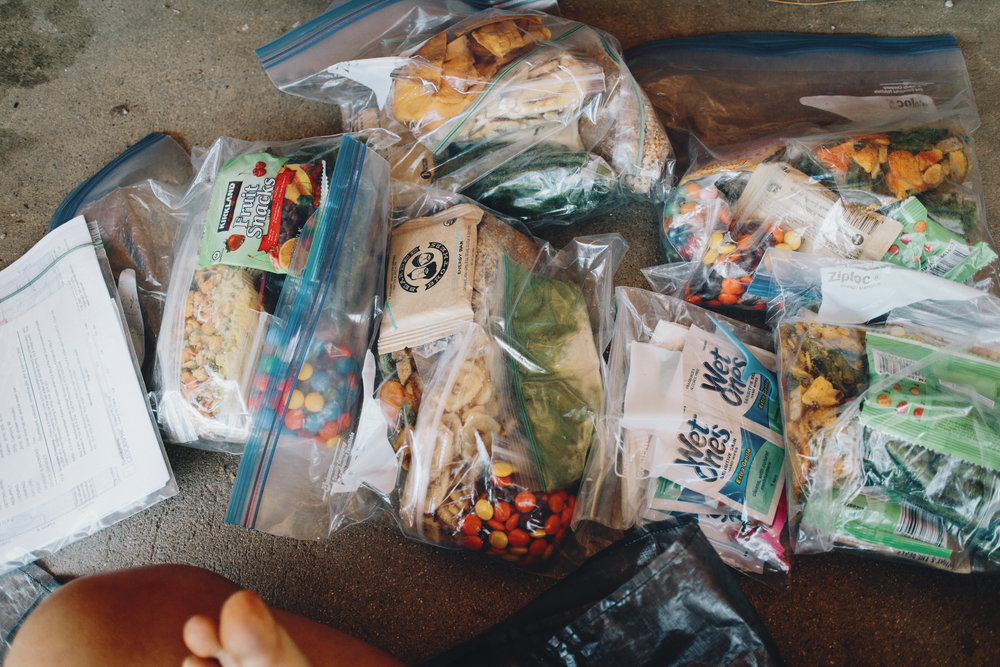 I had put each day's worth of food in separate baggies, not necessary I discovered.
