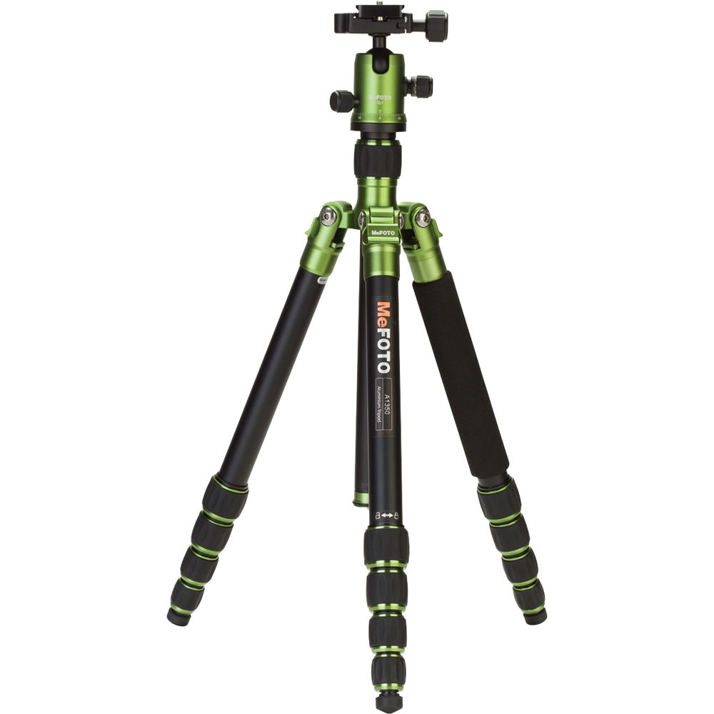 MeFOTO Roadtrip tripod. Always get a tripod with a ball head, don't settle for anything else. The Roadtrip is pretty basic, it's 3.6 lbs but I hadn't started backpacking yet. Perfect if you have a car to drive to your location.