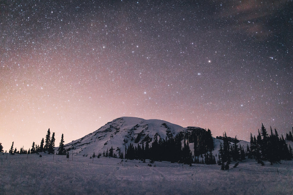 Paradise at Mount Rainier. Canon EOS M, 22mm, f/2, 30 sec, ISO 800.