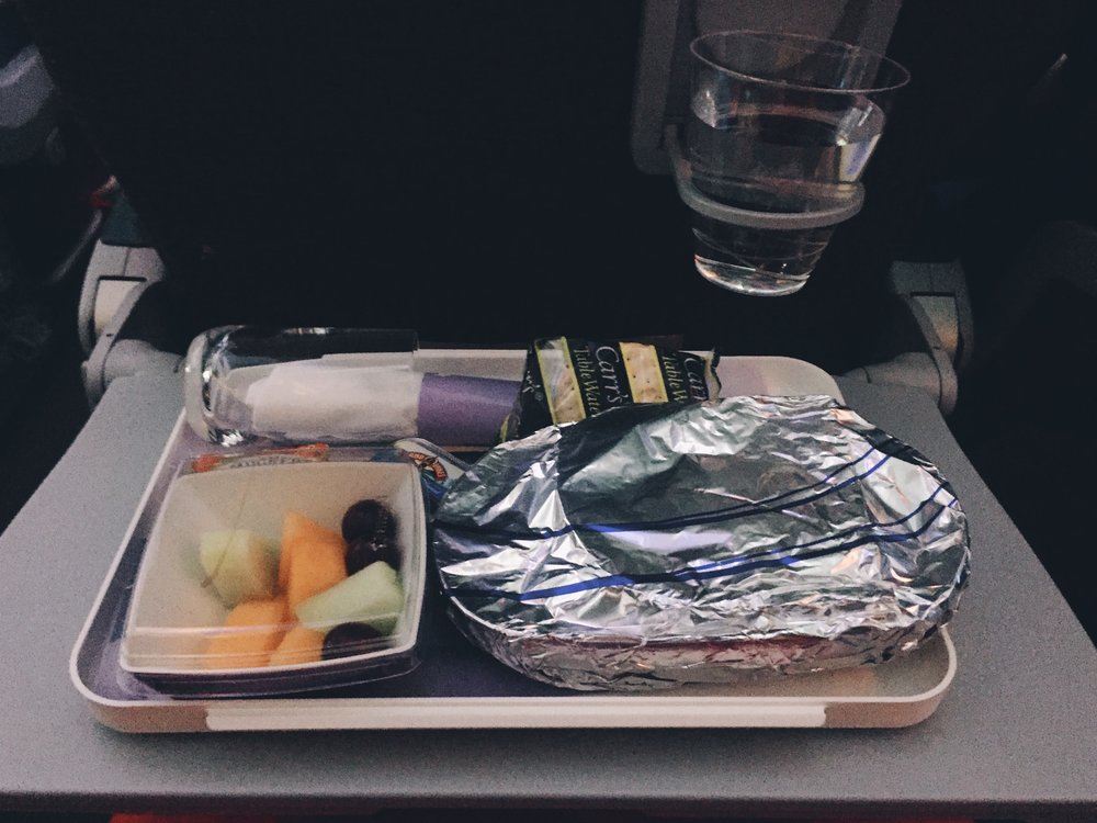 My little airplane lunch.