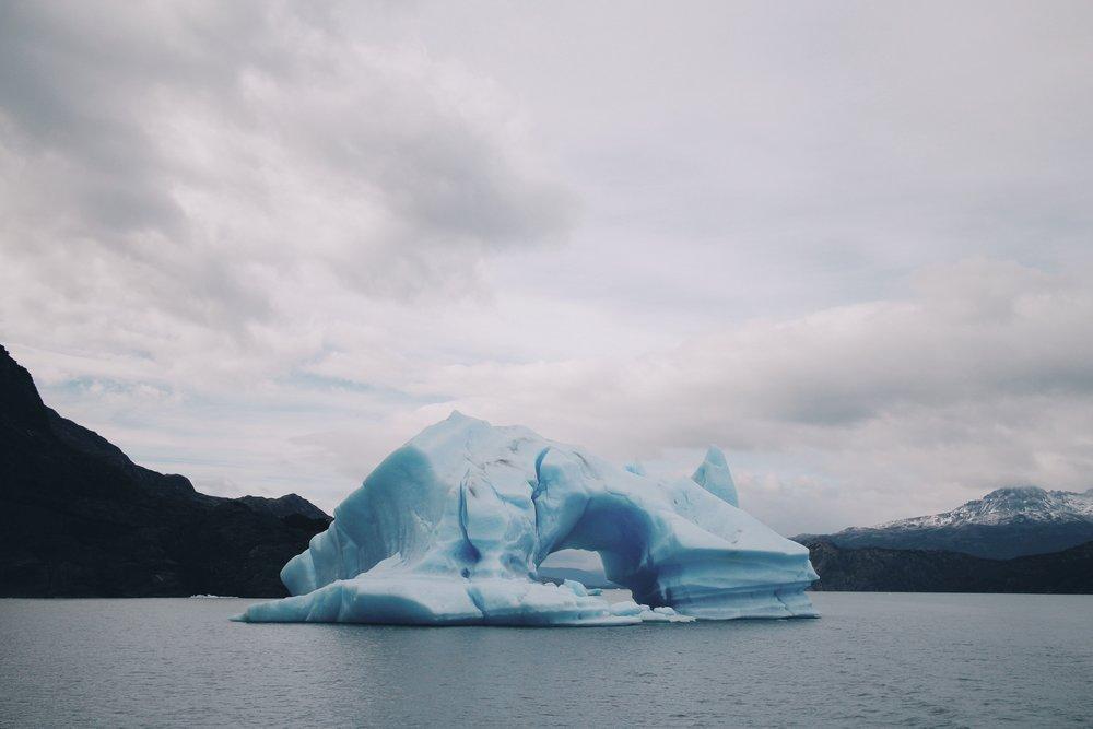 The cave iceberg.