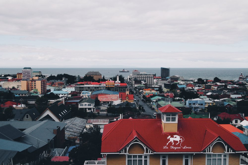 View from the top of punta arenas.