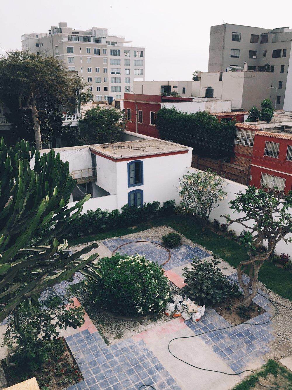 Stefanie's courtyard.