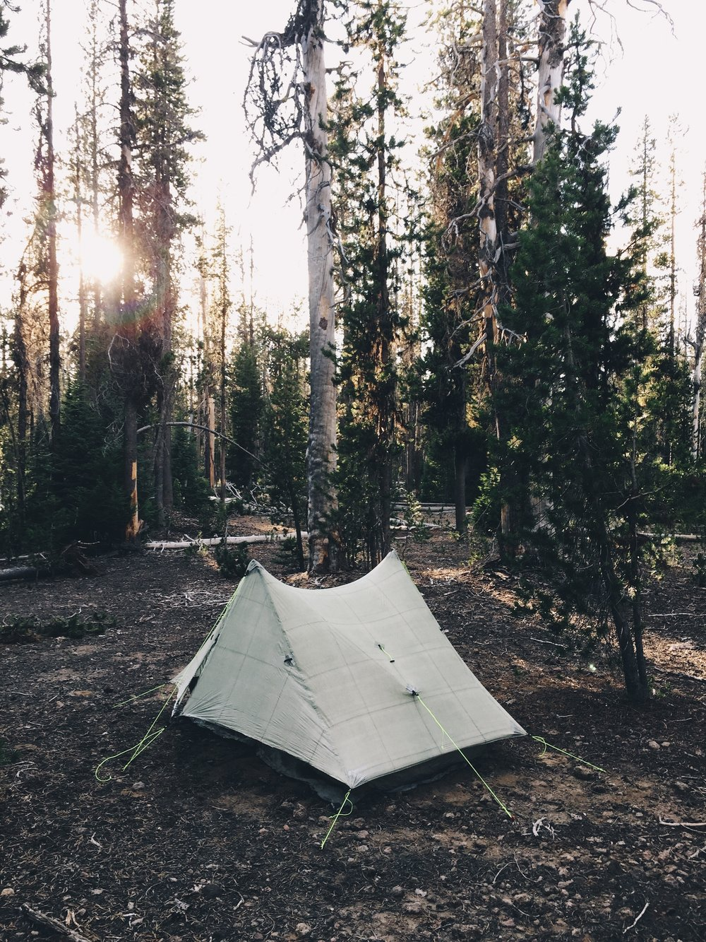 First night camped alone.