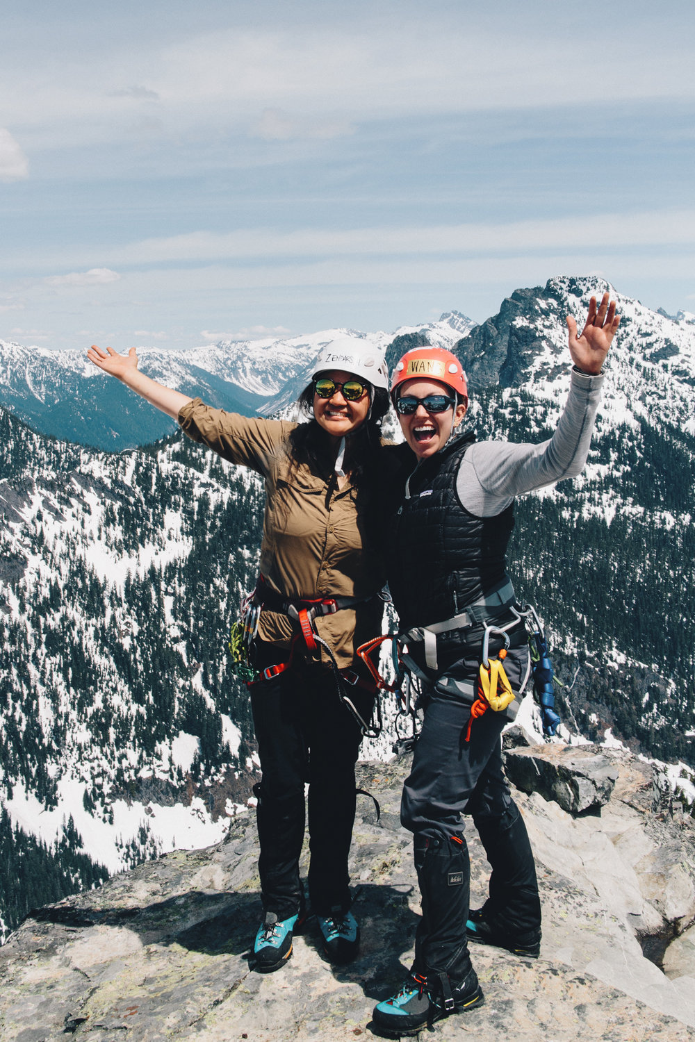 The next weekend was the Tooth with perfect weather! I finally did my first multi-pitch alpine climb. By far, the hardest thing I had ever done. Couldn't have done it without my fav climbing partner, Michelle!
