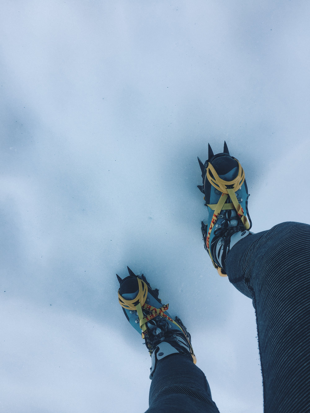 Finally got to use my crampons for a good purpose.