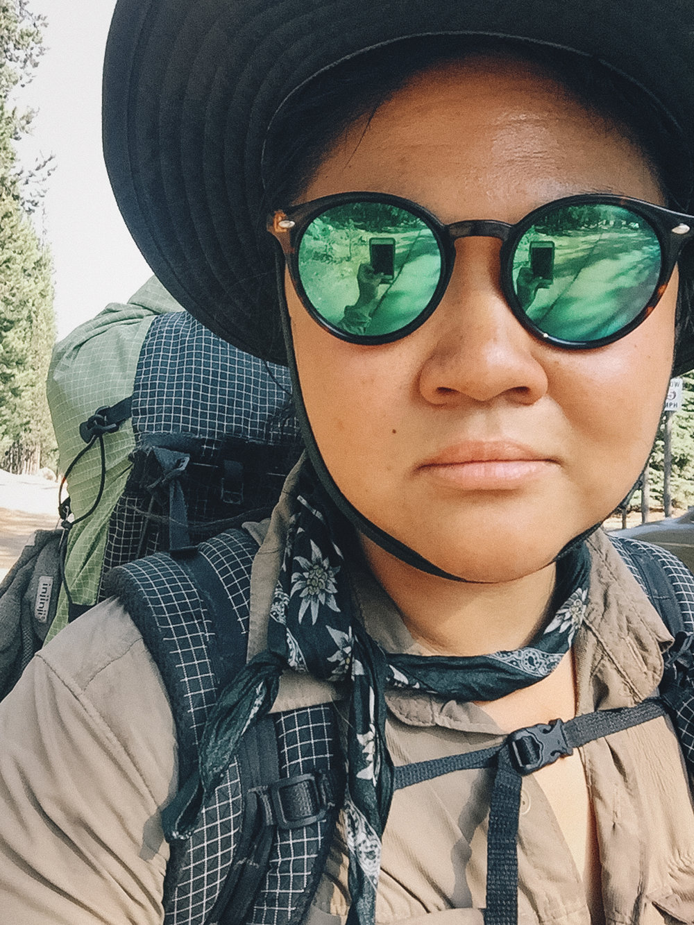 I spent my first three weeks out running from mosquitos and hiding from the heat. This was my Asian safari guide look when I was trying to shield myself from the sun.