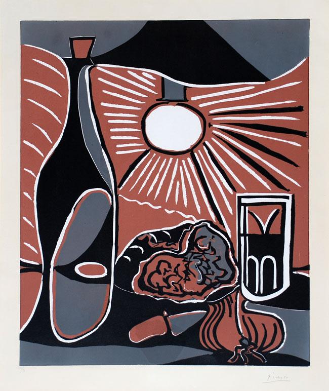 """Picasso """"Nature Morte"""" Linocut"""