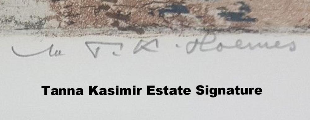 Tanna Kasimir Estate Signature