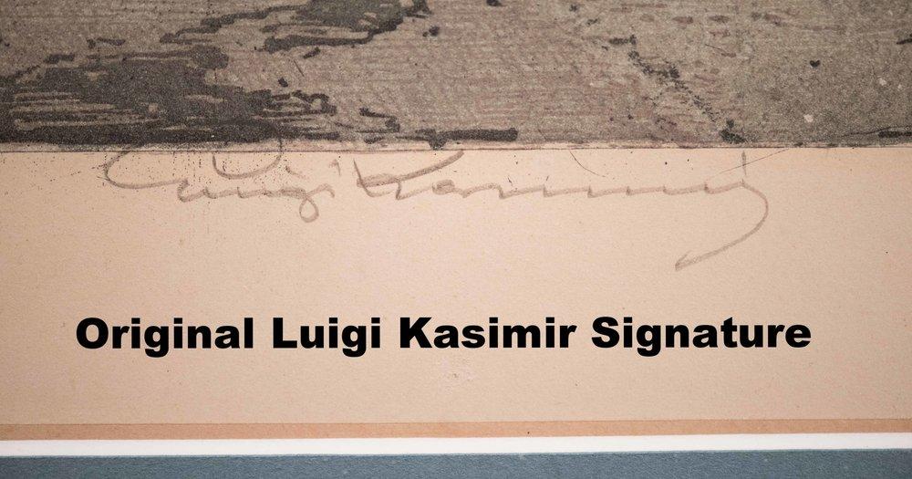 Original Luigi Kasimir Signature