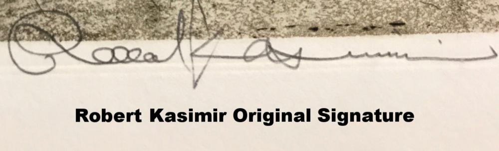 Original Robert Kasimir Signature
