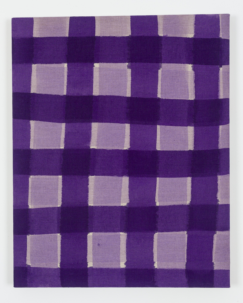 "Untitled (Purple), Acrylic on Unprimed Linen, 30"" x 24"", 2015"