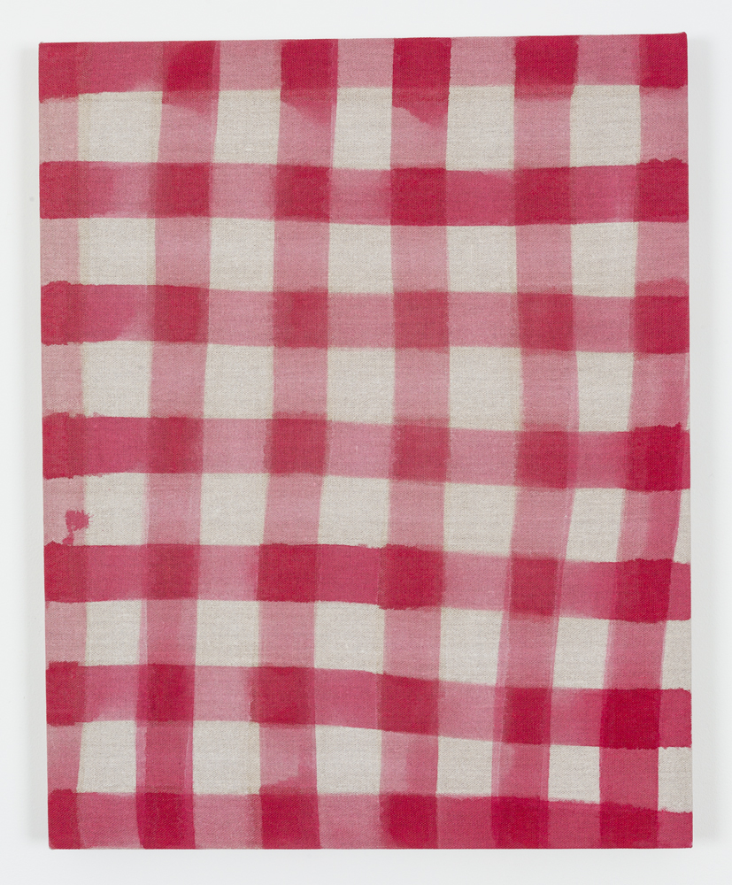 "Untitled (Tablecloth), Acrylic on Unprimed Linen, 30"" x 24"", 2015"