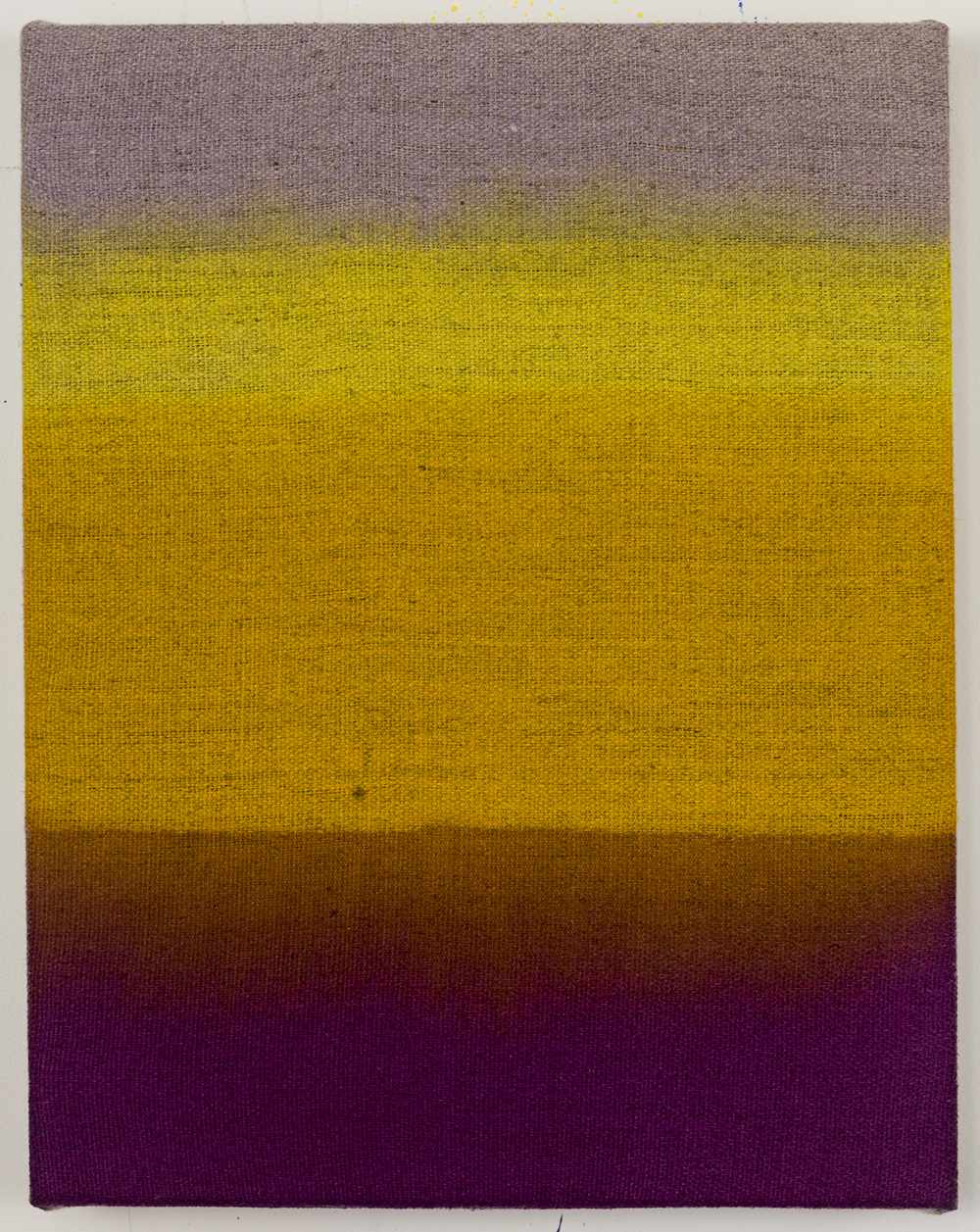 "Horizon 1, acrylic stain on raw linen, 14"" x 11"", 2017"
