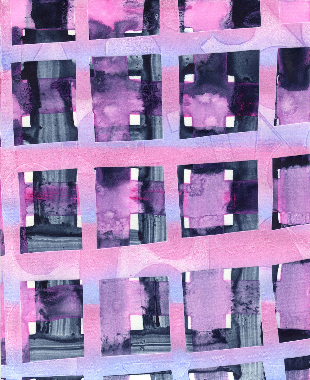 Untitled Pink and Black Grids