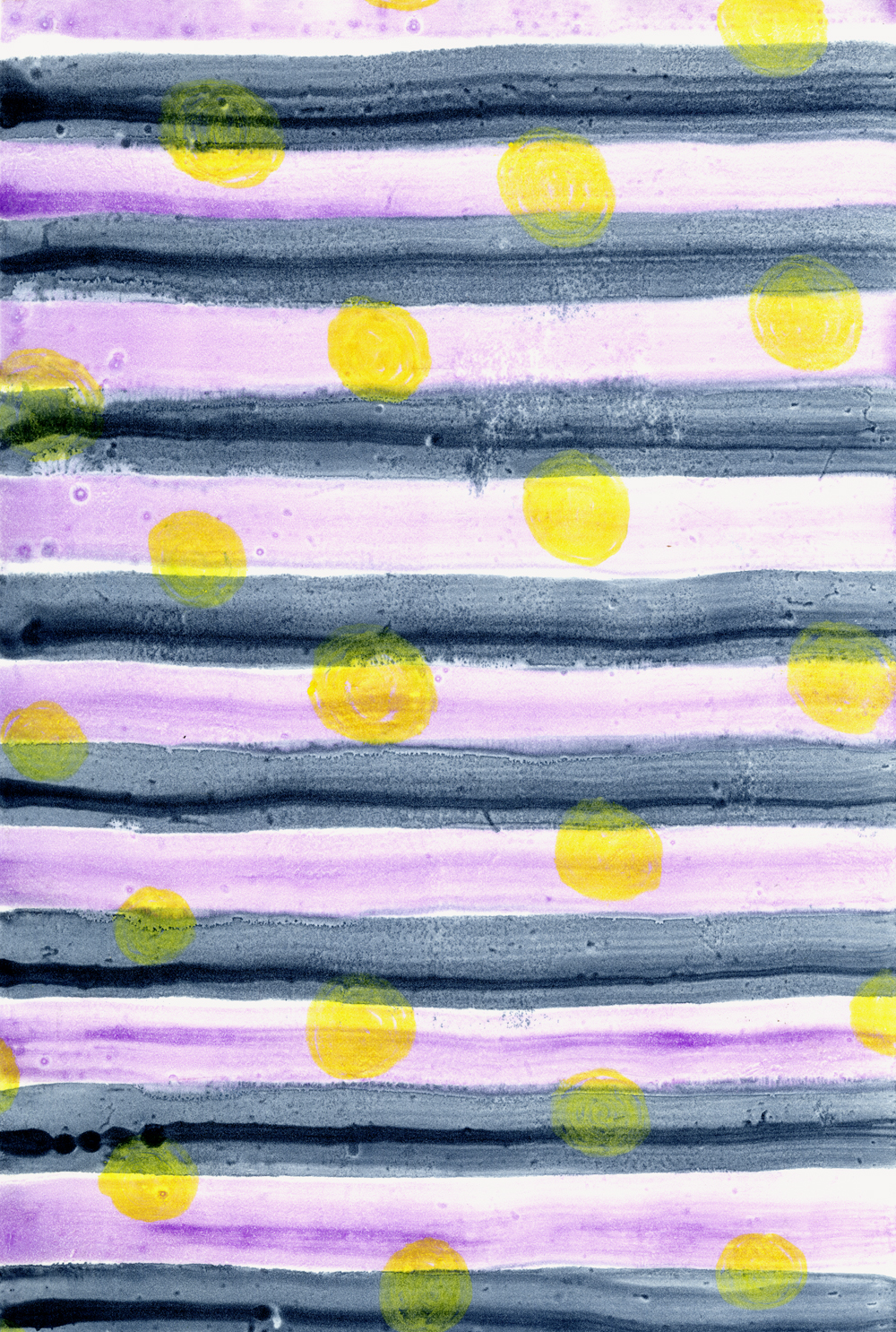 - Indigo StripesWatercolor monoprint on Somerset paper14.5 x 10 inches2018