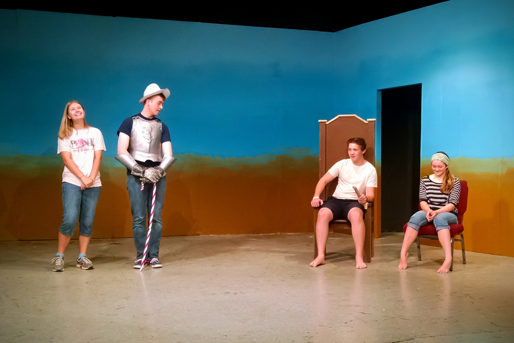 "The 2016 Yorkshire Playhouse Children Theatre rehearses for  ""John Dough and the Cherub."""