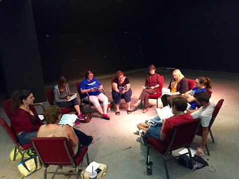 """The cast of """"The Mousetrap"""" at their first read through."""