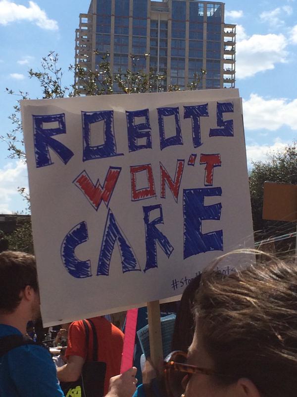 Anti-Robot Protest Held At SXSW TechCrunch