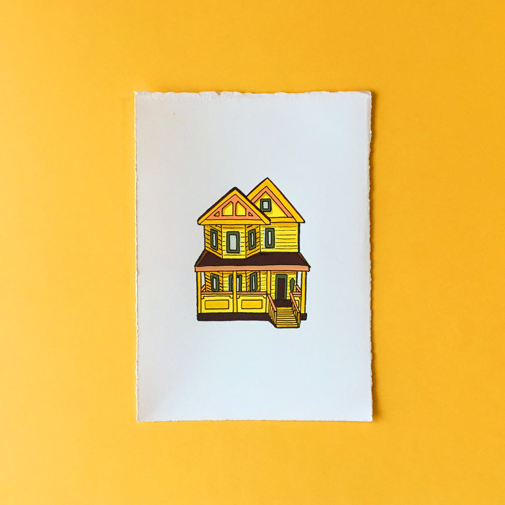 New England House // Screenprint