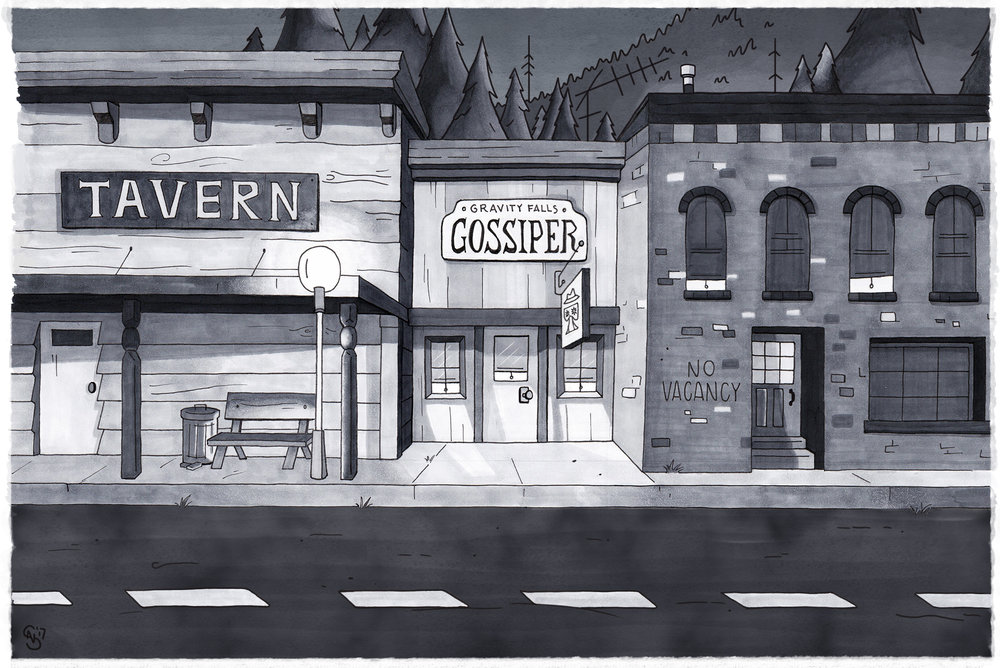 Gravity Falls Environment Study // Copic Markers