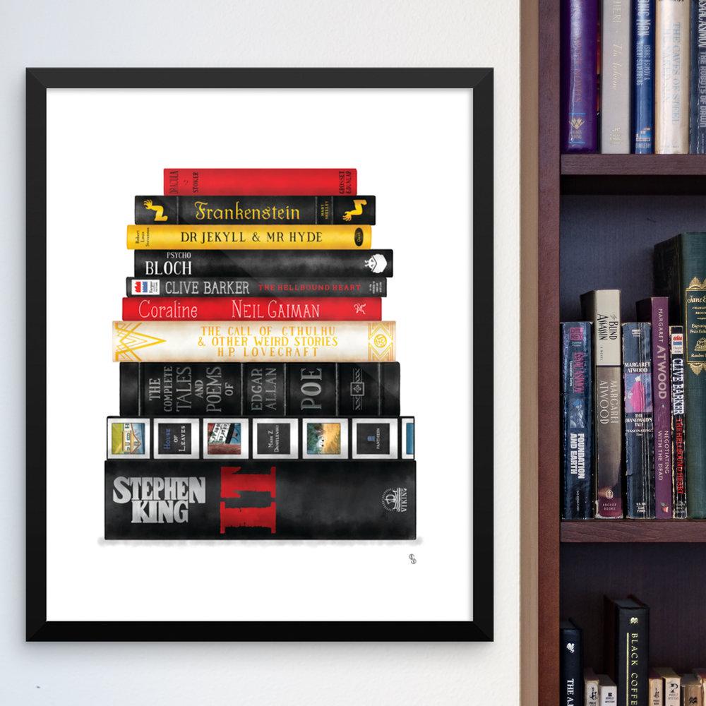 Literary Stack Art Prints