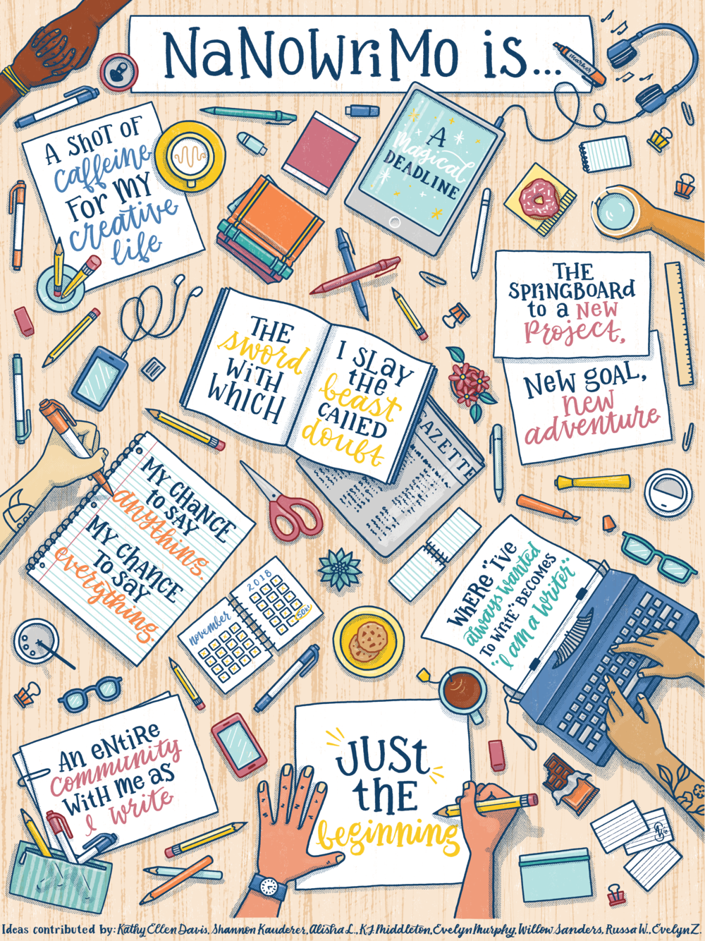 National Novel Writing Month Event Merchandise