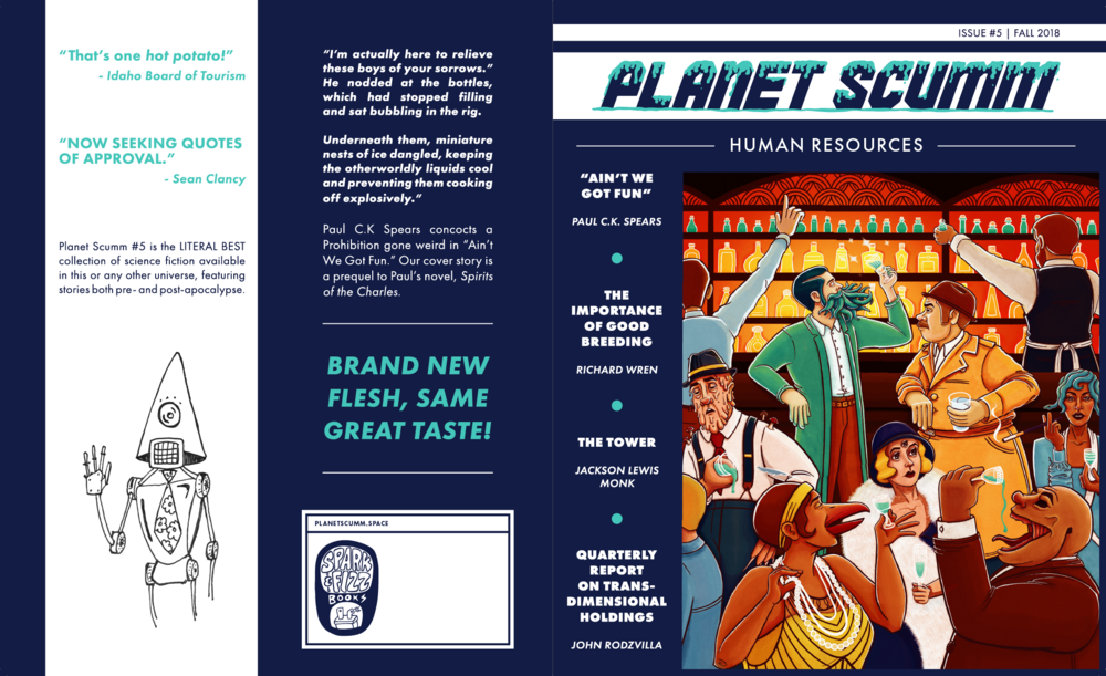 Planet Scumm Issue 5 Cover Spread