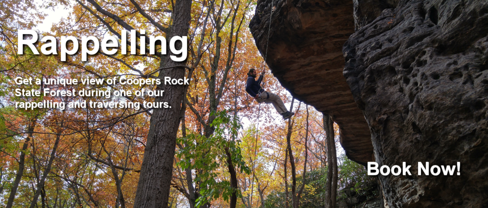 rappelling at Coopers Rock state forest