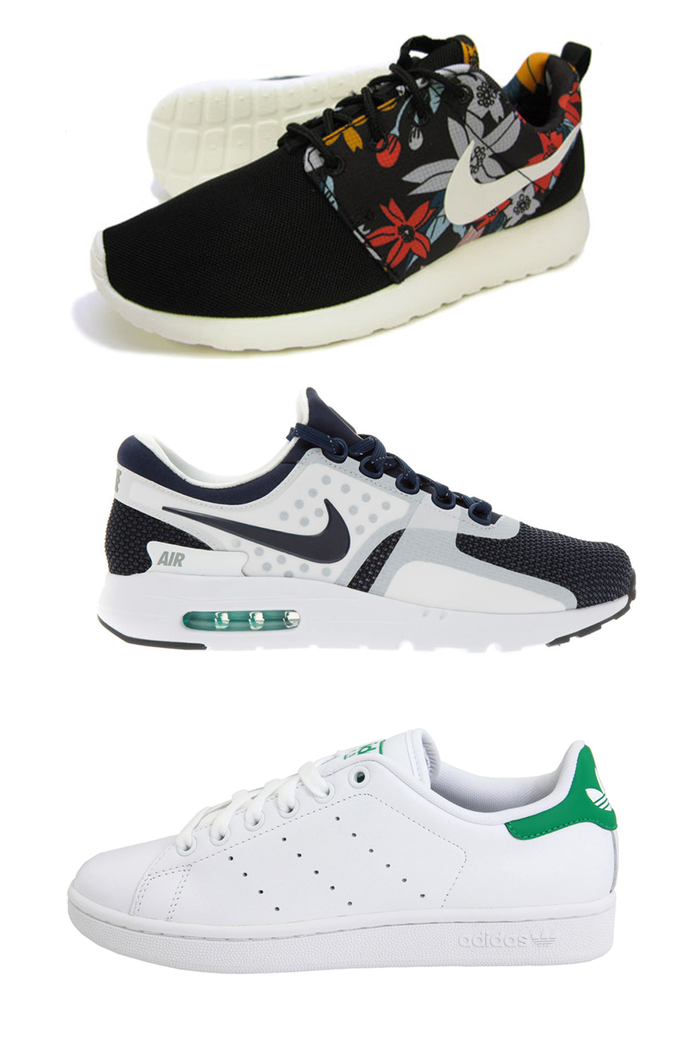 Nike Roshe Tropical Pack, Air Max Zero, Stan Smith Adidas