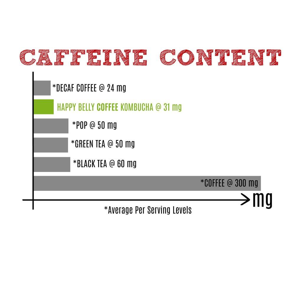 COFFEE KOMBUCHA CAFFEINE CONTENT @ 31 mg / 355 ml