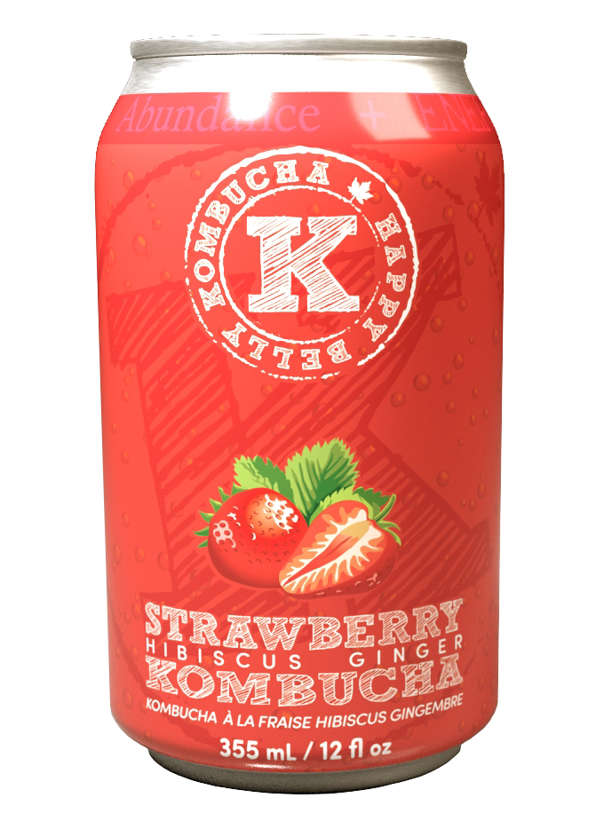 Strawberry Hibiscus Ginger Kombucha