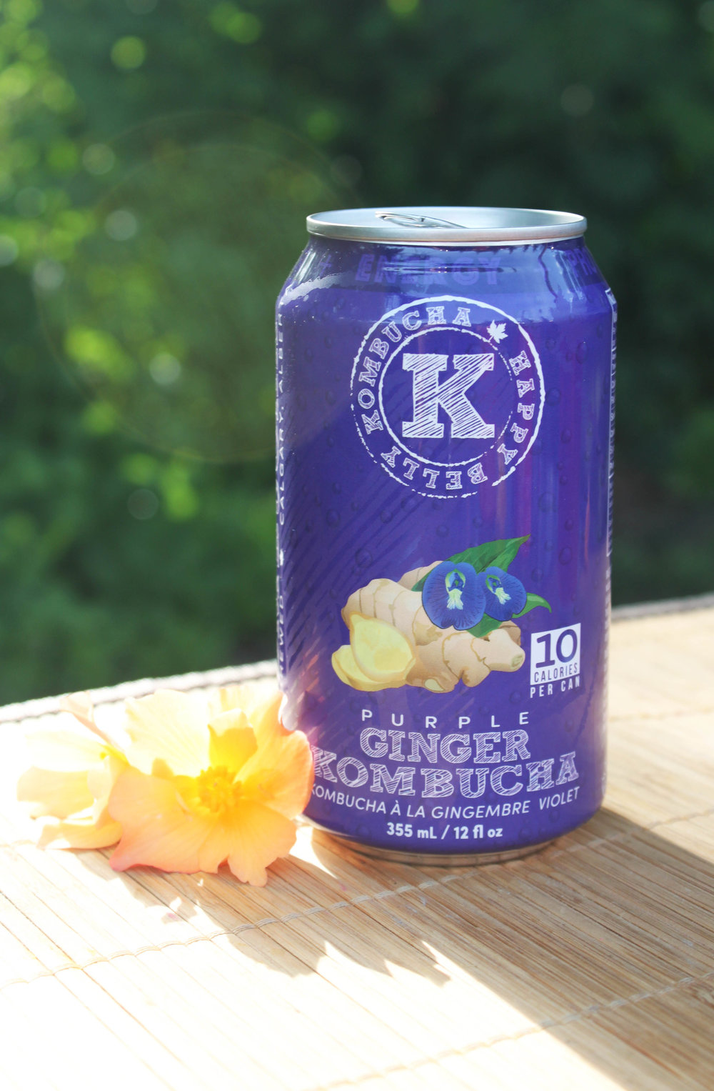 Happy Belly Purple Ginger Kombucha