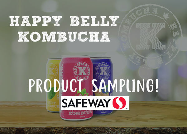 Happy Belly Kombucha Safeway Sampling