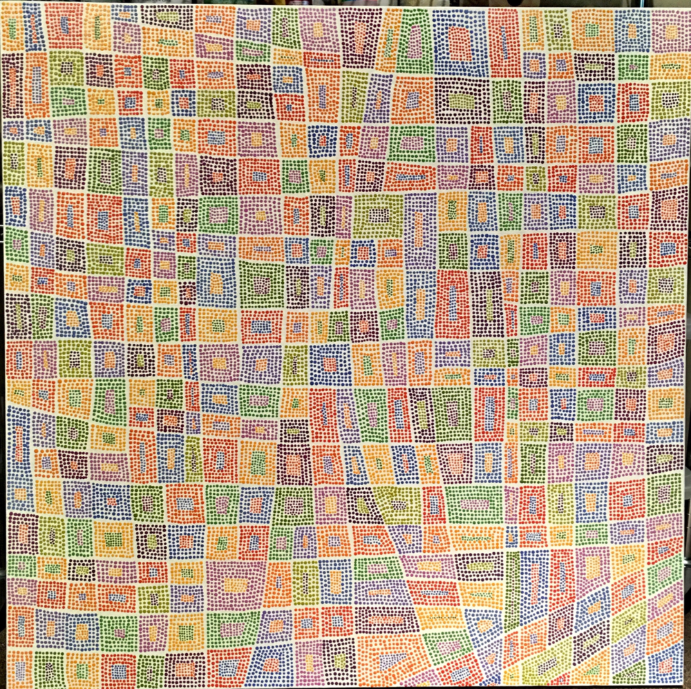 "Stained Glass // 40"" x 40"" // 2017"