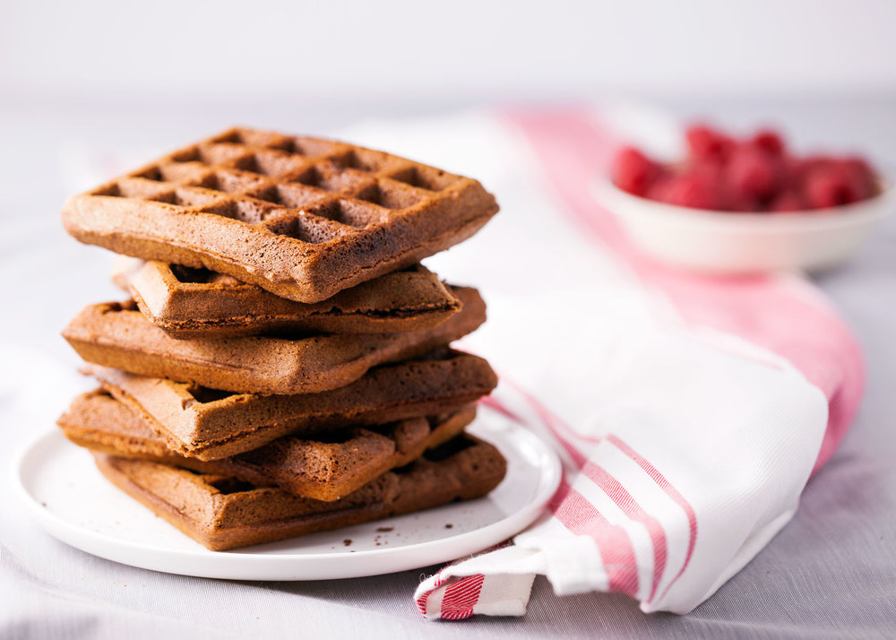Gluten Free Gingerbread Waffles with Maple Cinnamon Drizzle // Natural Girl Modern World // Vegan & Gluten Free