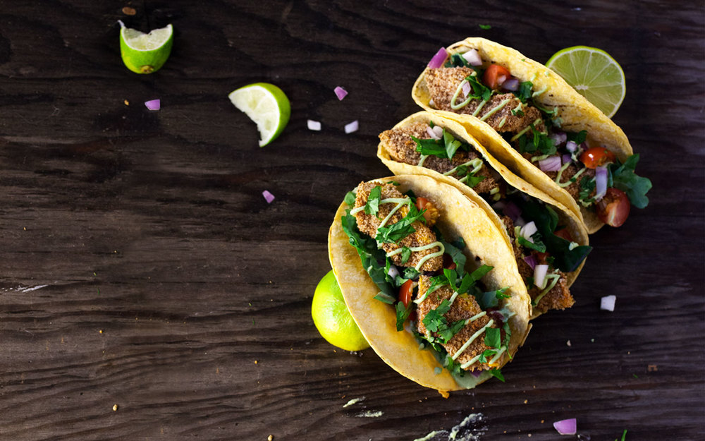 Crispy Squash Tacos with Jalapeno Lime Crema // Natural Girl Modern World // Vegan