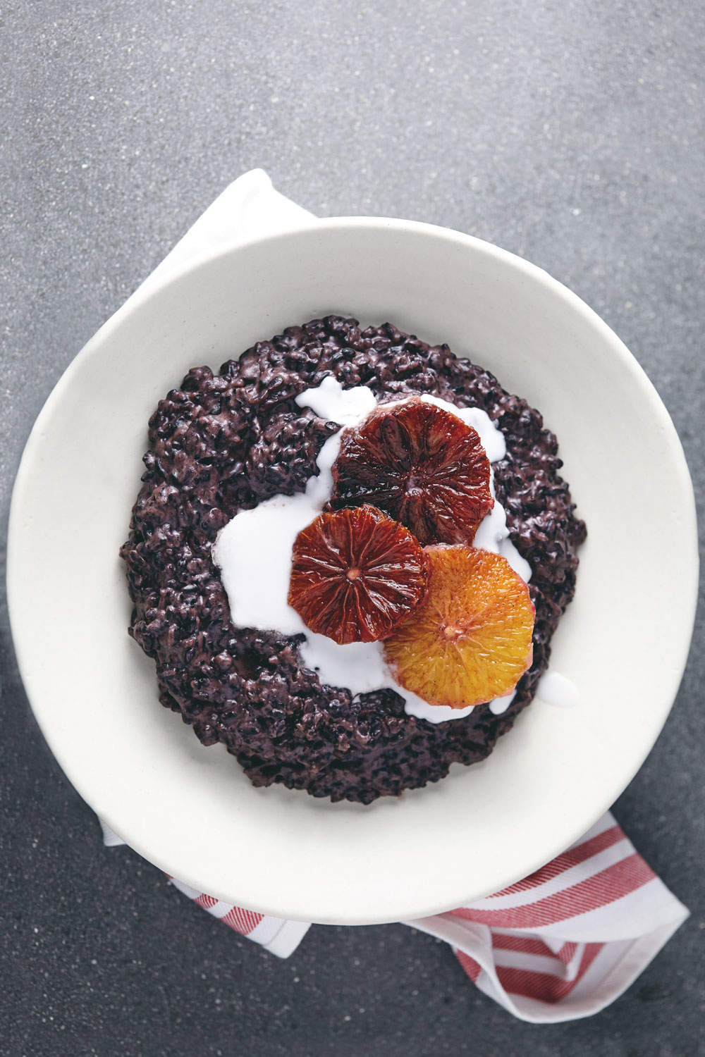 Black Rice Pudding with Cardamom Spiced Oranges ...