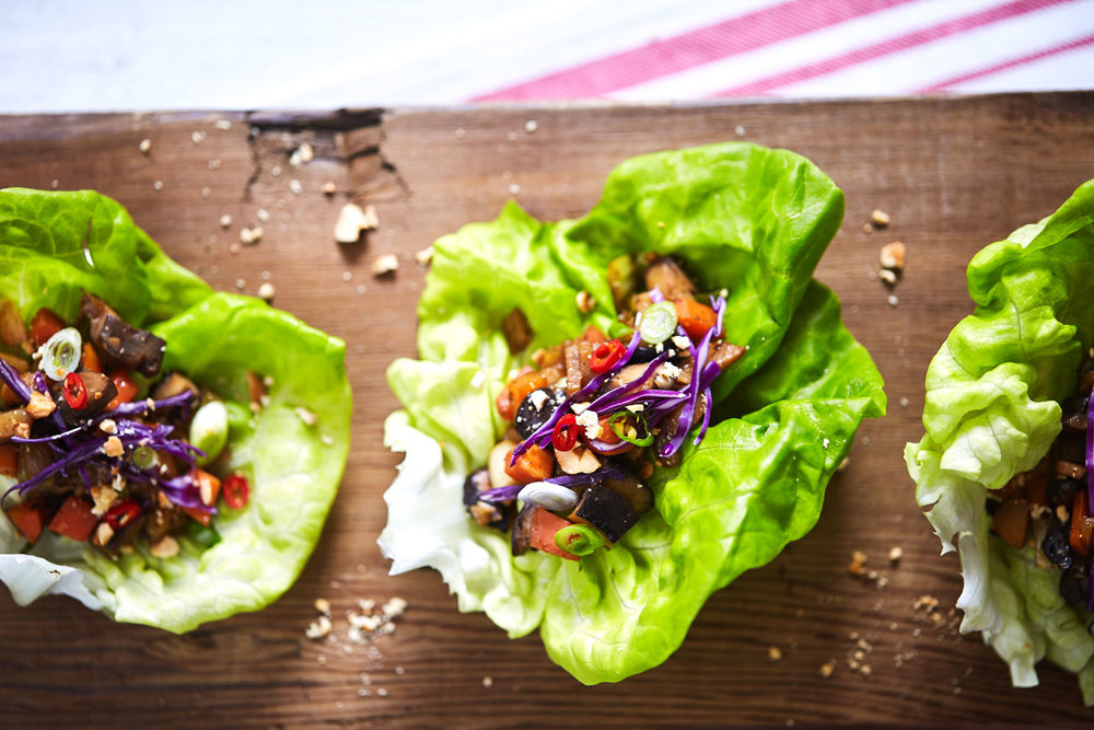 Asian Mushroom Lettuce Wraps // Natural Girl Modern World // Vegan & Gluten Free