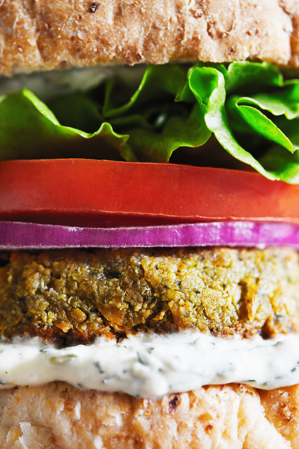 Falafel Tahini Burgers with Tzatziki Sauce // Natural Girl Modern World // Gluten Free