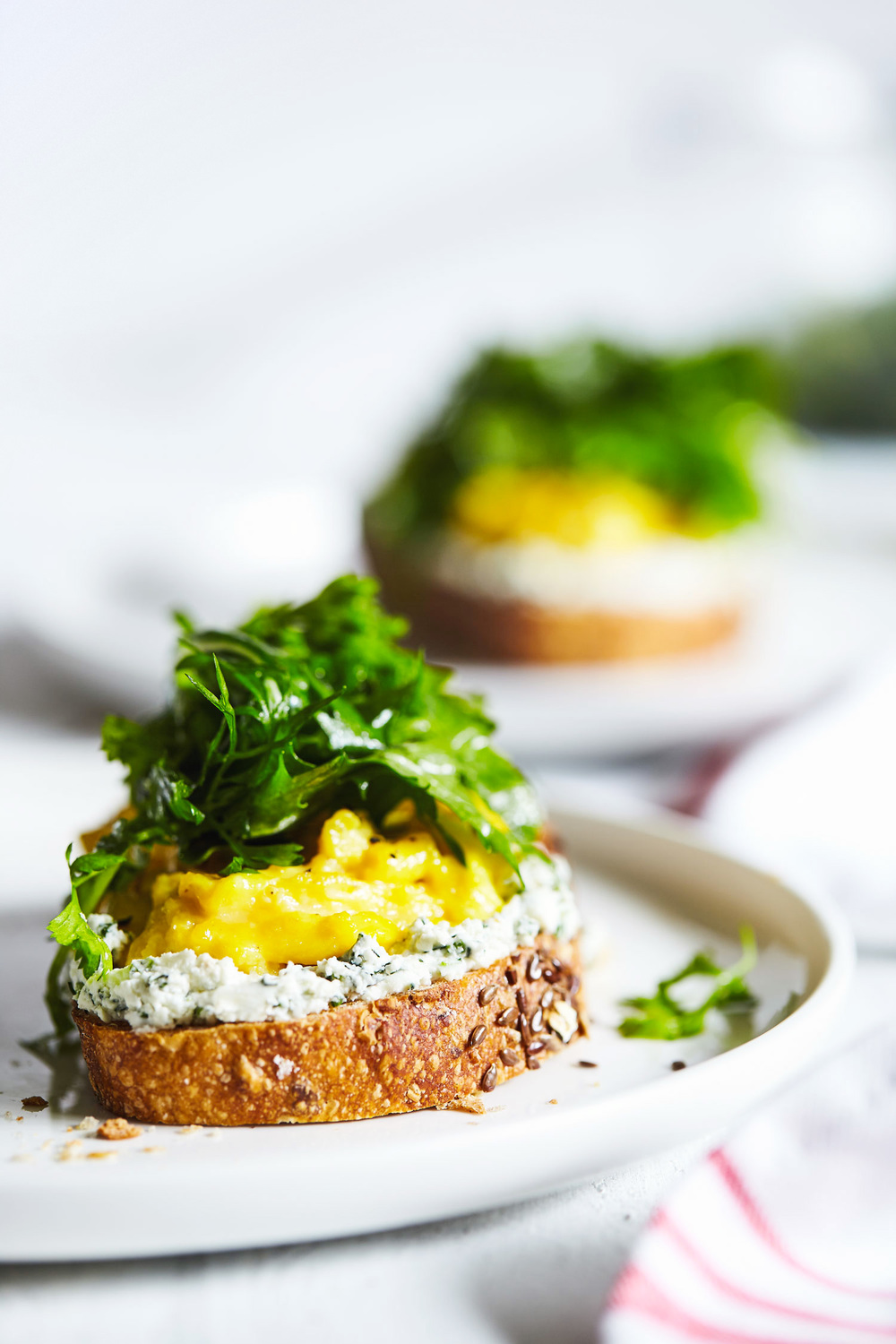 Scrambled Eggs & Herbed Goat Cheese Toast // Natural Girl Modern World // Vegetarian & Gluten Free
