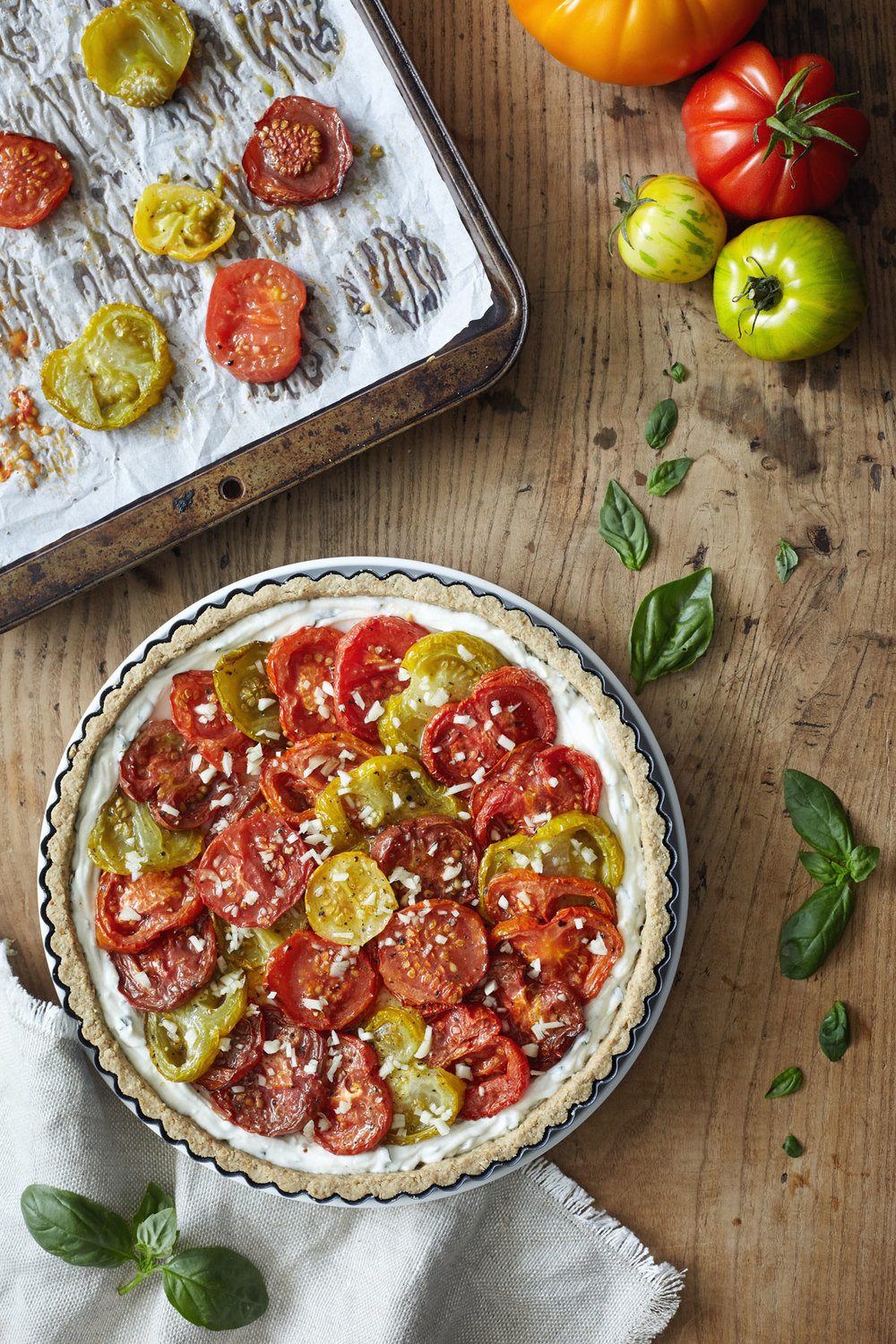 Heirloom Tomato Tart with Gluten Free Crust // Natural Girl Modern World // Vegetarian & Gluten Free