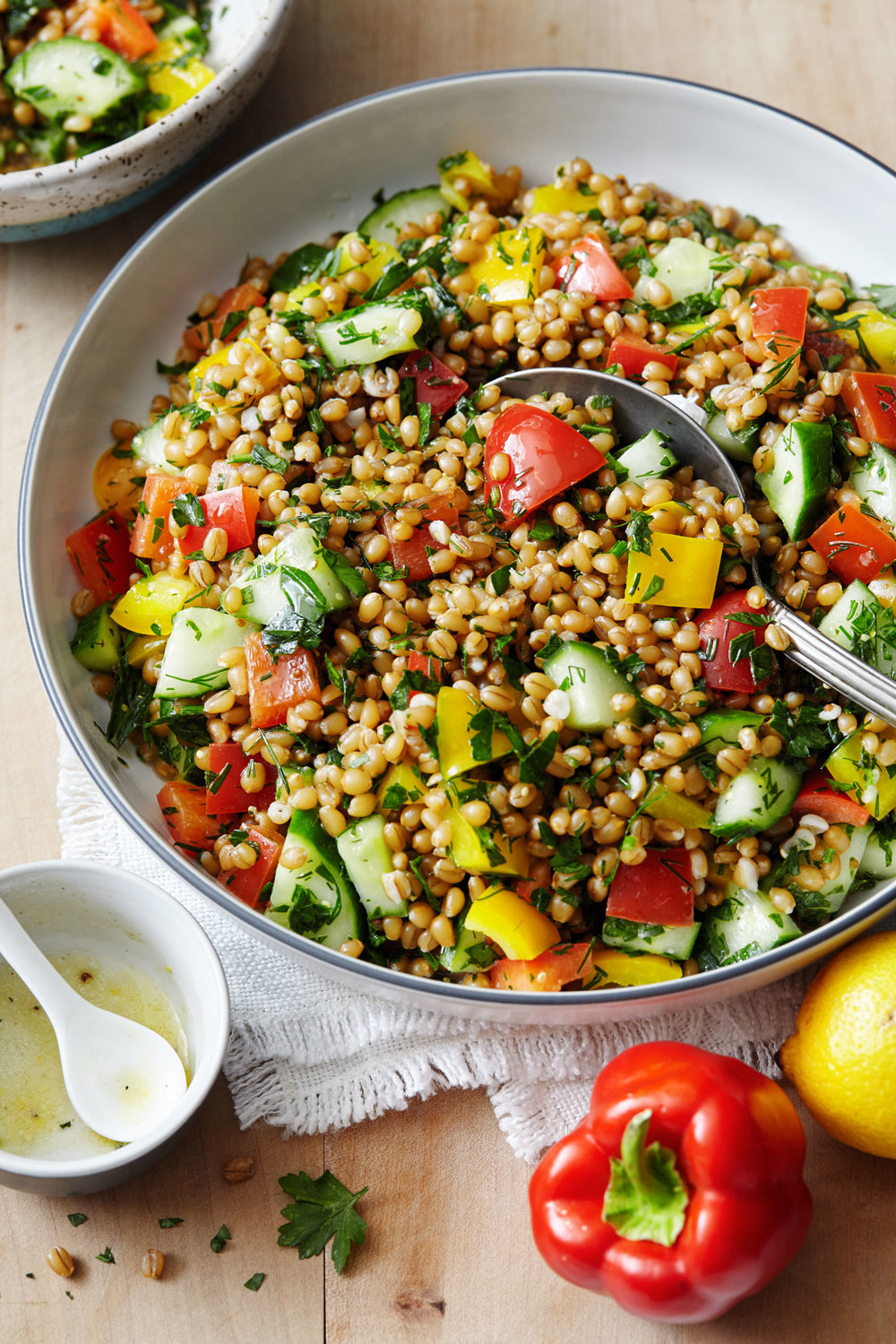 Grain Salad with Fresh Lemon & Herbs // Natural Girl Modern World // Vegan