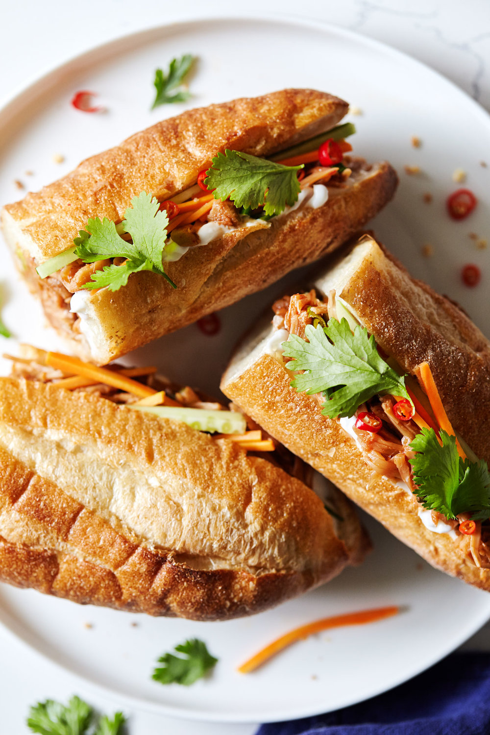 Pulled Jackfruit Bahn Mi Sandwiches // Natural Girl Modern World // Vegan & Gluten Free (optional)