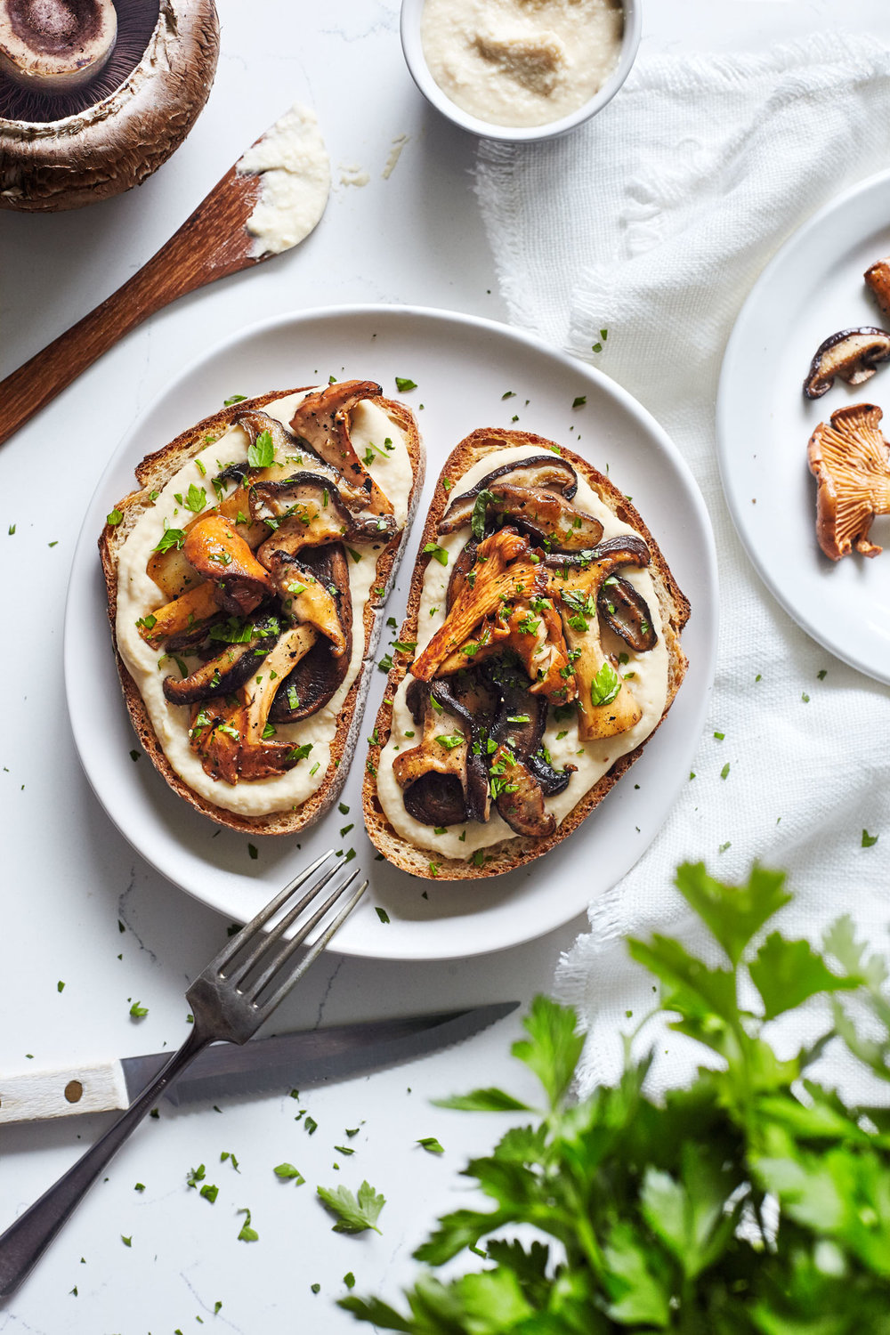 Mushrooms on Toast // Natural Girl Modern World // Vegan & Gluten Free (option)